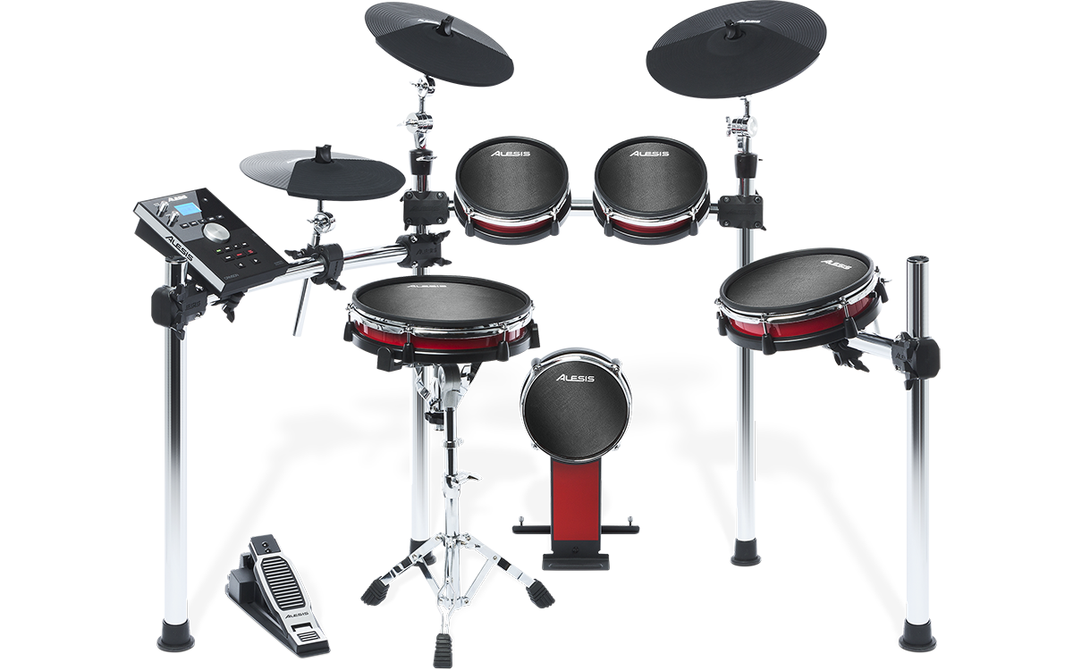 Achtteiliges E-Drum Kit mit Mesh Drums